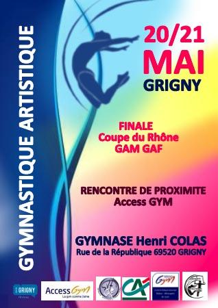 Finale Coupe du Rhône GAM et GAF à Grigny 20-21 mai