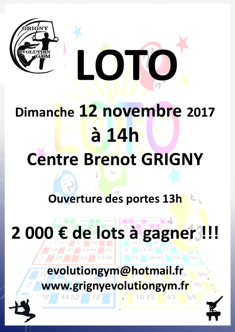 Loto d'Automne du GEG le 12 novembre 2017