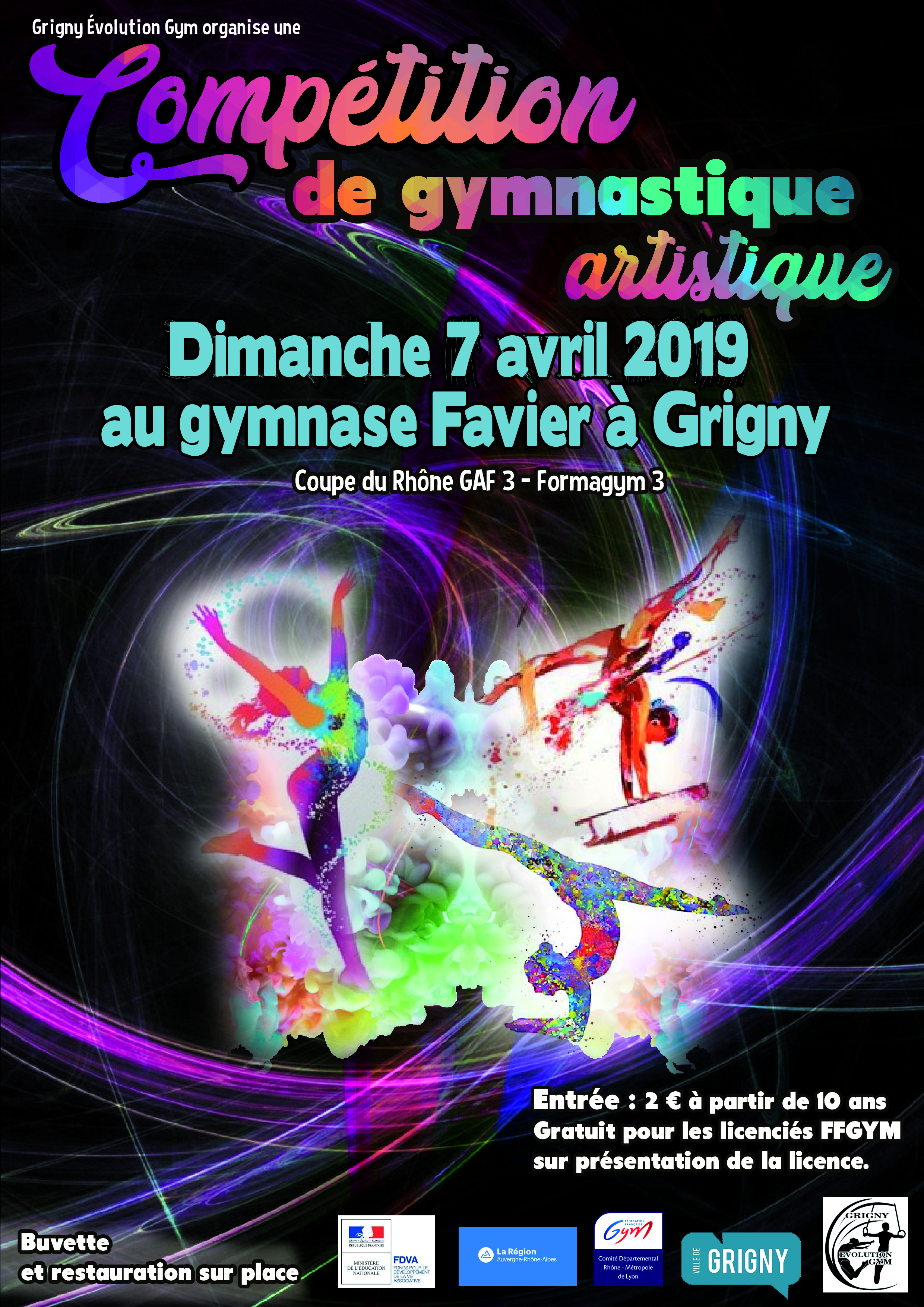 Compétition de gymnastique le dimanche 7 avril au Gymnase Favier
